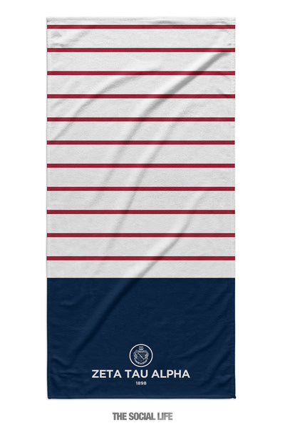 Zeta Tau Alpha Sailor Striped Towel