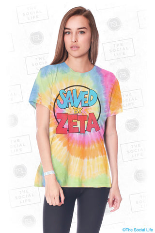Zeta Tau Alpha Saved Tie Dye Tee