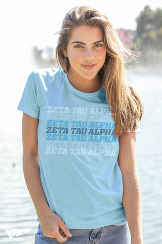 Zeta Tau Alpha Shady Scoop Tee