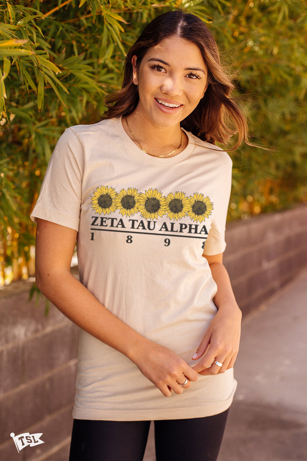 Zeta Tau Alpha Sunflower Tee