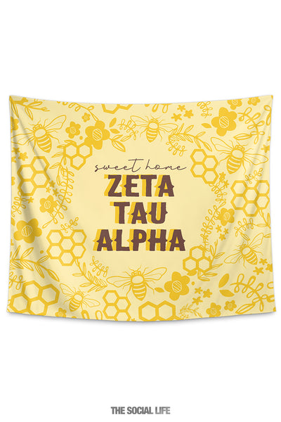 Zeta Tau Alpha Sweet Home Tapestry