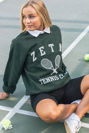 Zeta Tau Alpha Tennis Club Crewneck