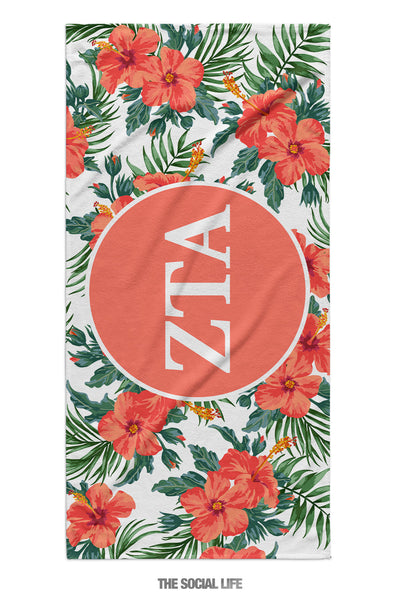 Zeta Tau Alpha Tropic Towel