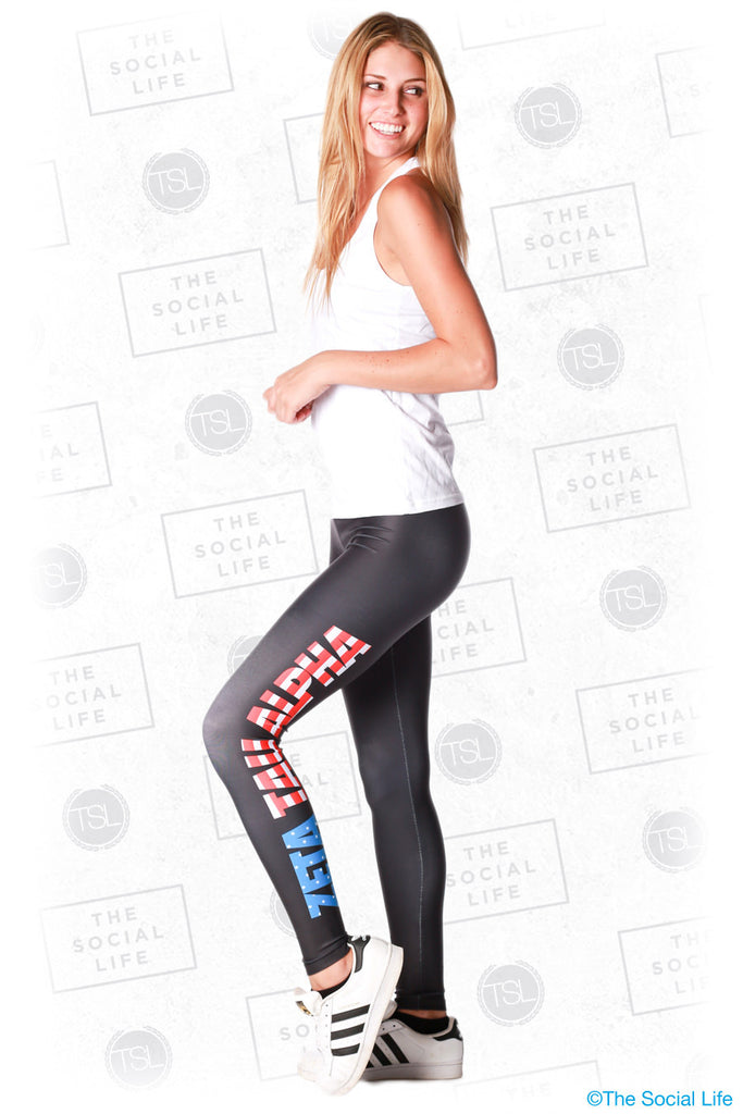 Zeta Tau Alpha USA Leggings