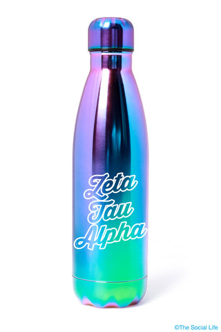 Zeta Tau Alpha Galaxy Blue Water Bottle