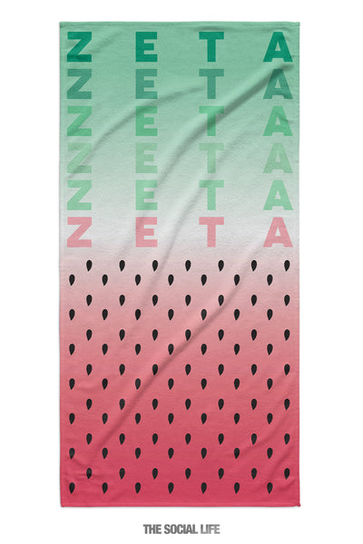 Zeta Tau Alpha Watermelon Towel