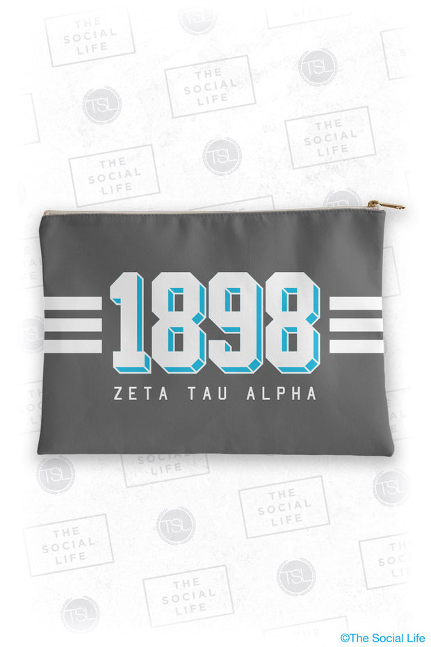Zeta Tau Alpha Varsity Cosmetic Bag