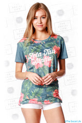 Zeta Tau Alpha Vintage Hawaiian Scoop Tee