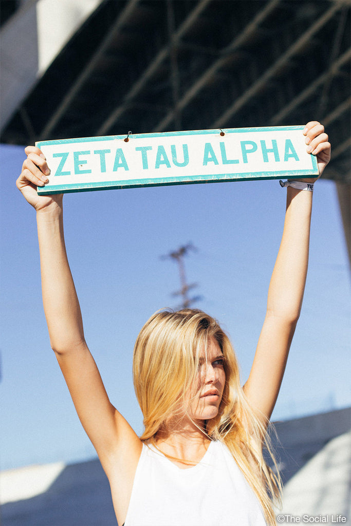 Zeta Tau Alpha Vintage Sign
