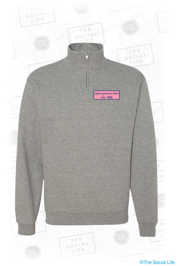 Alpha Gamma Delta Preppy Quarter Zip Sweatshirt