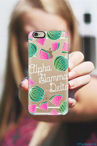 Alpha Gamma Delta Custom Snap Case
