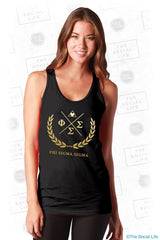 Phi Sigma Sigma Gold Wreath Tank