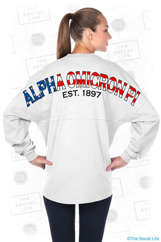 Alpha Omicron Pi Old Glory Spirit Jersey