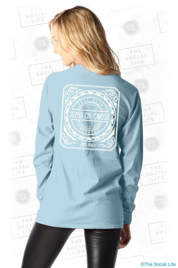 Alpha Chi Omega Retreat Pocket Long Sleeve