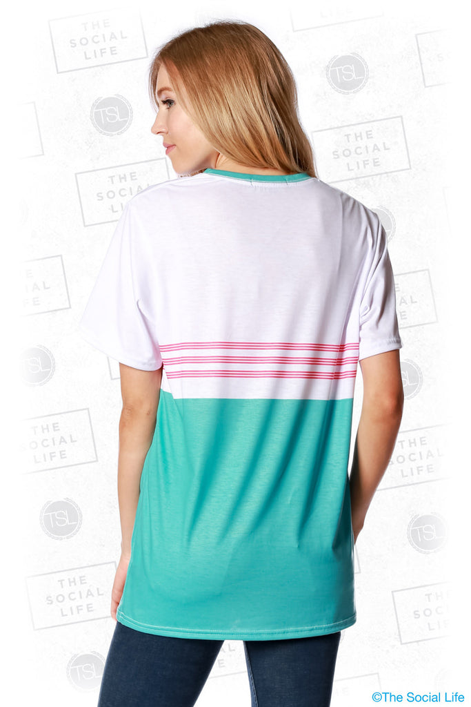 Alpha Chi Omega South Beach Tee