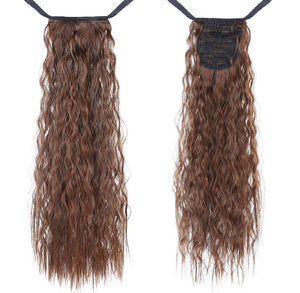 Chesnut Brown Curly InstabiliTail -  Ponytail Hair Extension