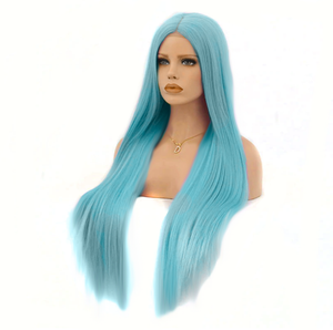 Blue Instabaddie Mermaid Wig - Front Lace