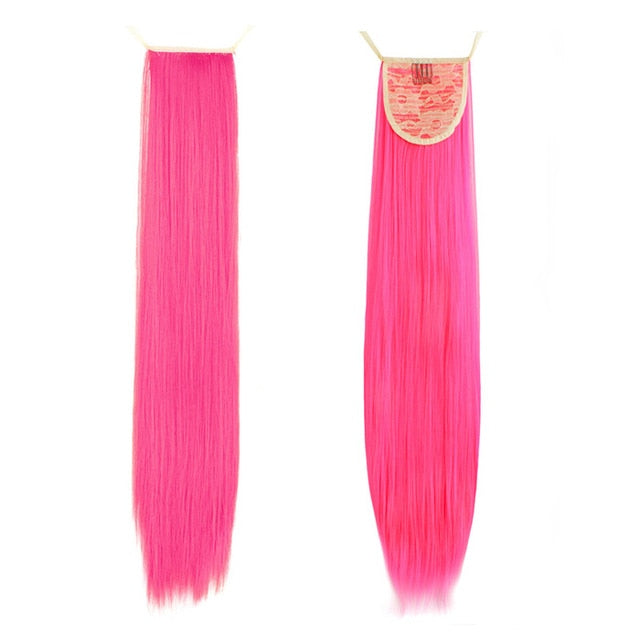 Dark Pink Pony InstabiliTail -  Ponytail Hair Extension
