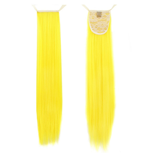 Yellow Pony InstabiliTail -  Ponytail Hair Extension