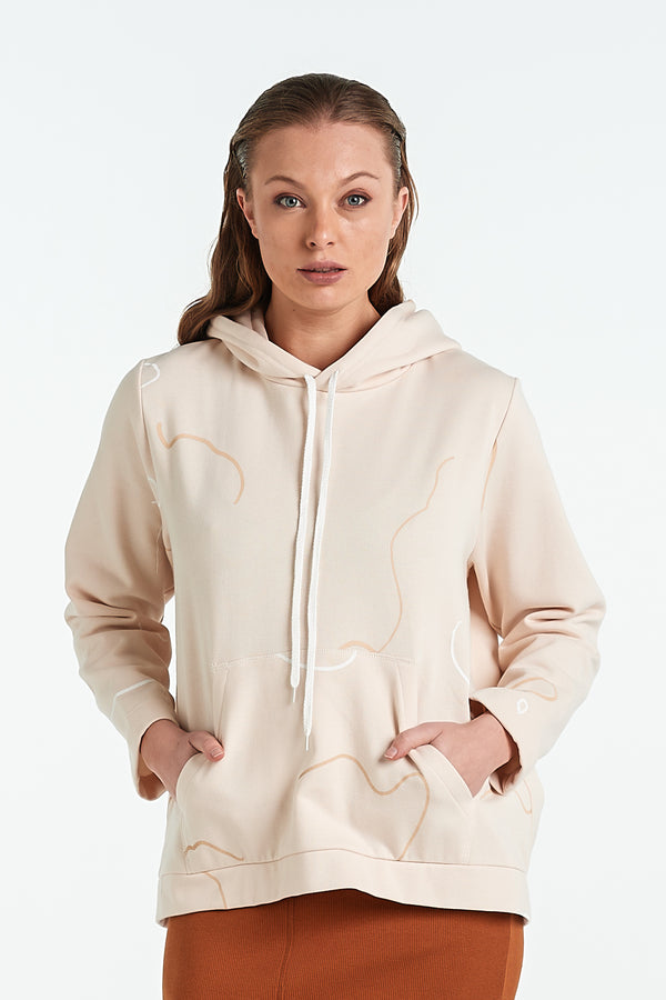 ONYX HOOD | SAND OBJECT - NYNE - NZ Made Women's Clothing