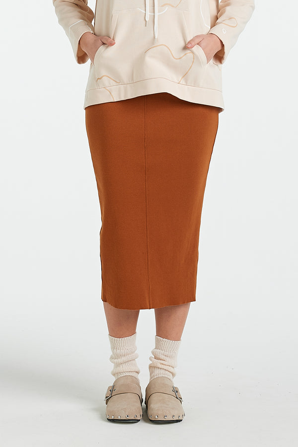 LAYER SKIRT | TOBACCO - NYNE - NZ Made Women's Clothing