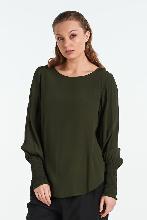 POLISHED TOP | OLIVE