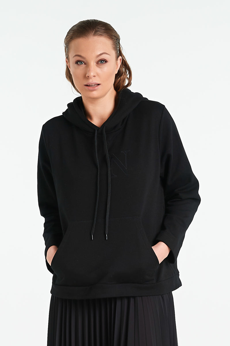 ONYX HOOD | BLACK - NYNE - NZ Made Women's Clothing