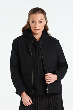 PAVEMENT JACKET | BLACK - NYNE - NZ Made Women's Clothing