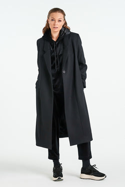 PEARL COAT | BLACK - NYNE - NZ Made Women's Clothing