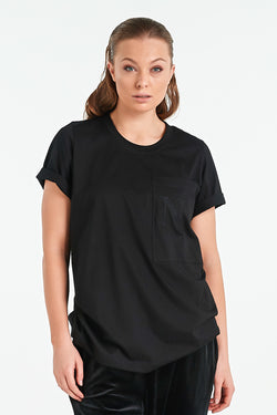 CHIP T-SHIRT | BLACK - NYNE - NZ Made Women's Clothing