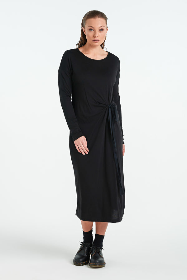 VISUAL LS DRESS  | BLACK - NYNE - NZ Made Women's Clothing