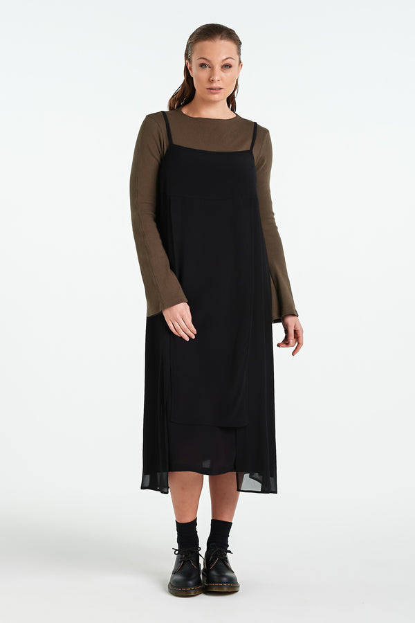 TERRAZZO DRESS | BLACK - NYNE - NZ Made Women's Clothing
