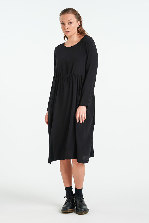 DIVIDE DRESS | BLACK - NYNE - NZ Made Women's Clothing