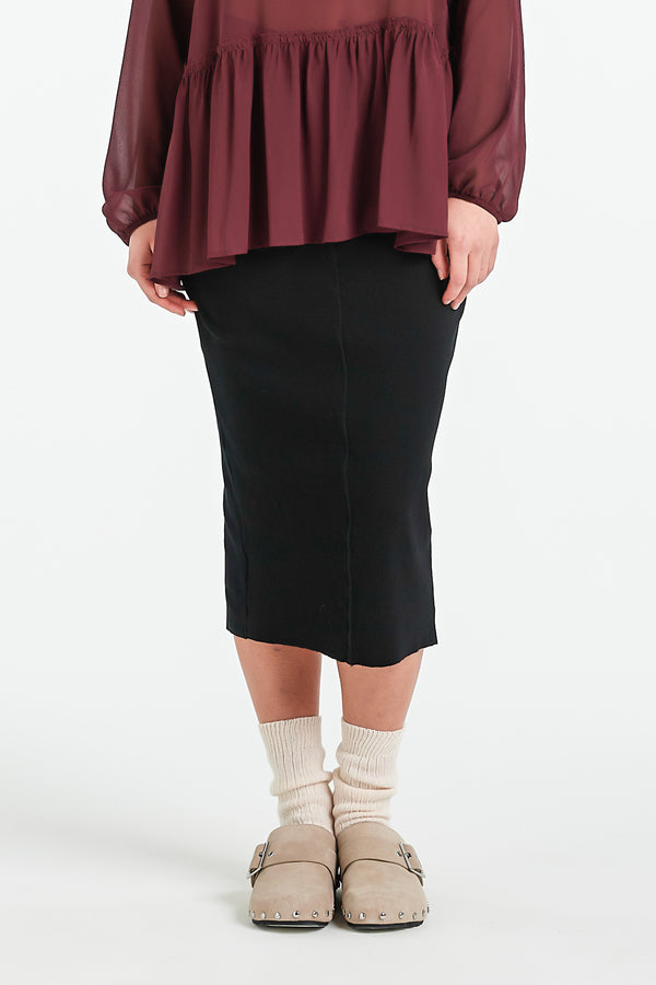 LAYER SKIRT | BLACK - NYNE - NZ Made Women's Clothing