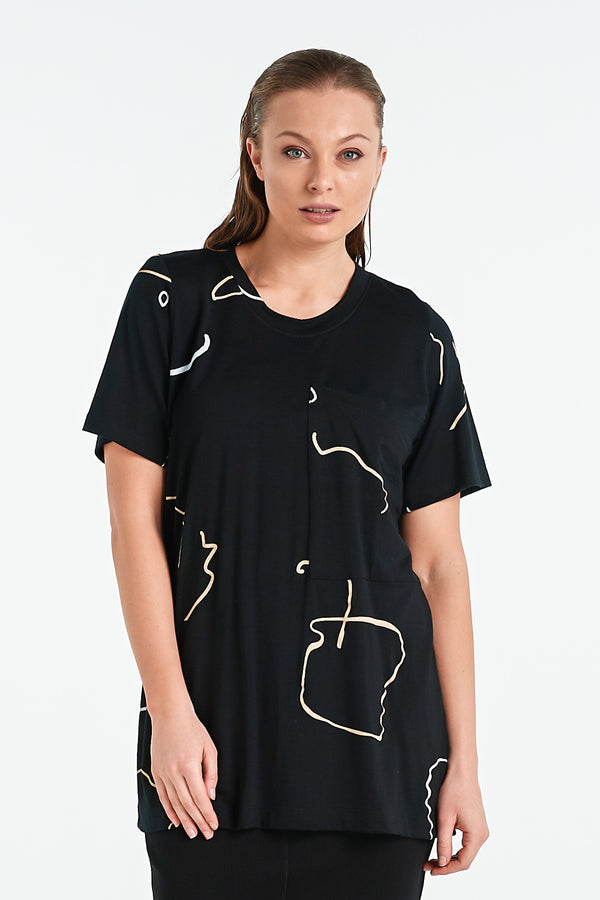 CHIP T-SHIRT | BLACK OBJECT - NYNE - NZ Made Women's Clothing
