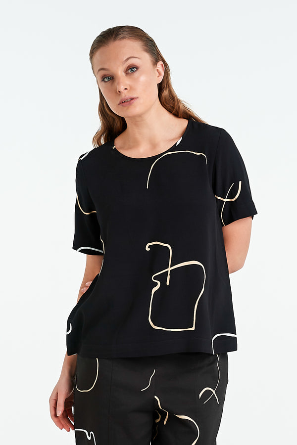 ARC TOP | BLACK OBJECT - NYNE - NZ Made Women's Clothing