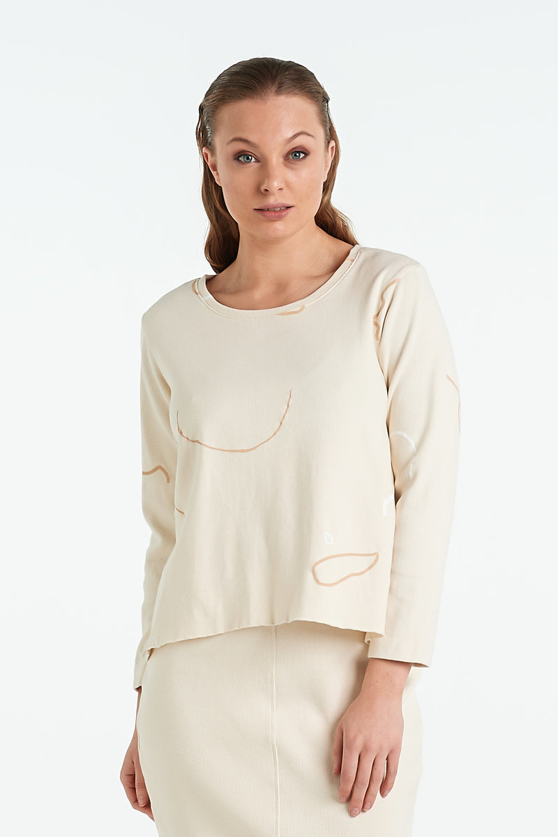 BIND LS TOP | IVORY - NYNE - NZ Made Women's Clothing