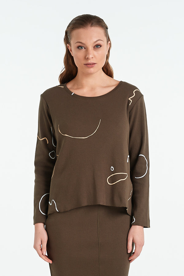 BIND LS TOP | KHAKI - NYNE - NZ Made Women's Clothing