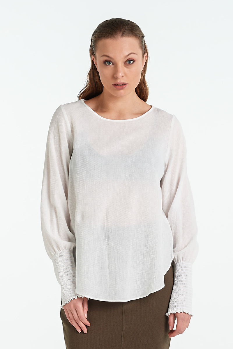 POLISHED TOP | IVORY - NYNE - NZ Made Women's Clothing