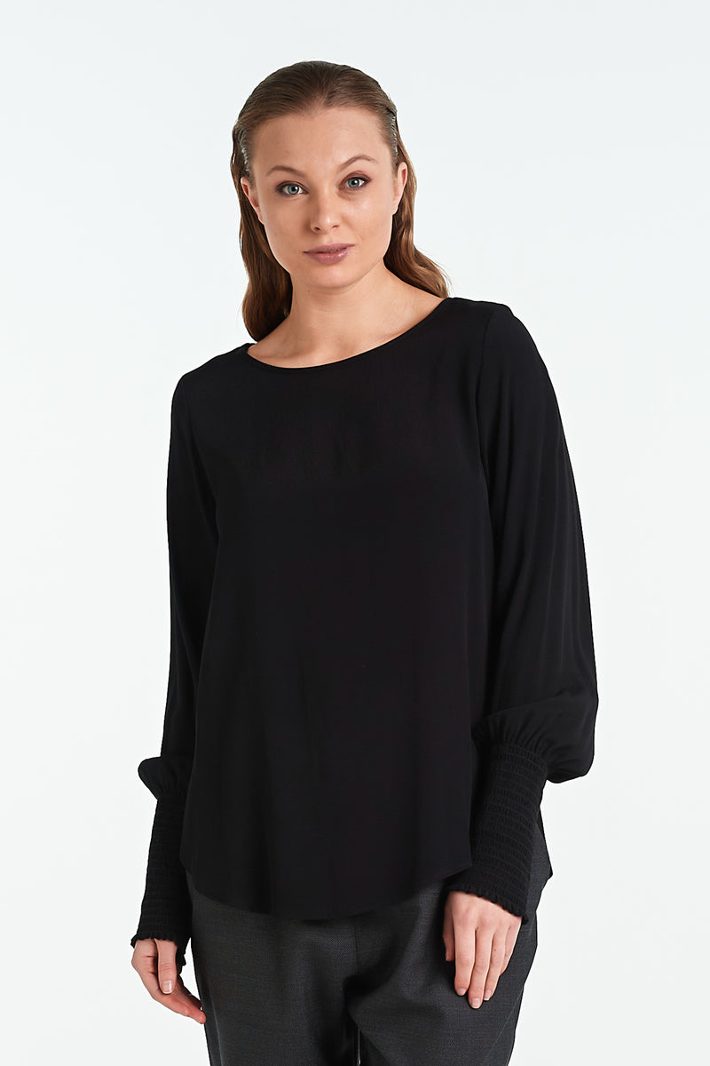 POLISHED TOP | BLACK - NYNE - NZ Made Women's Clothing