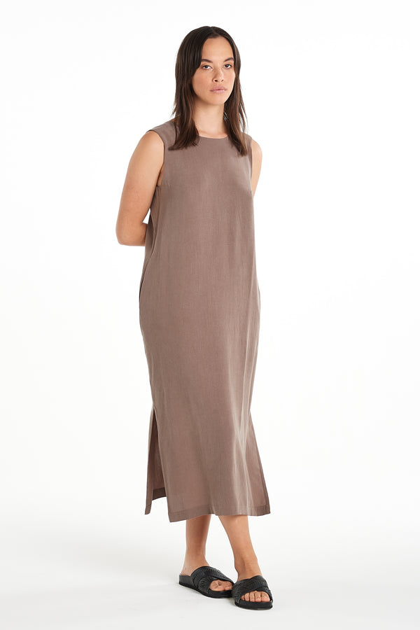 Dusk Dress | Taupe | NYNE | Online Store