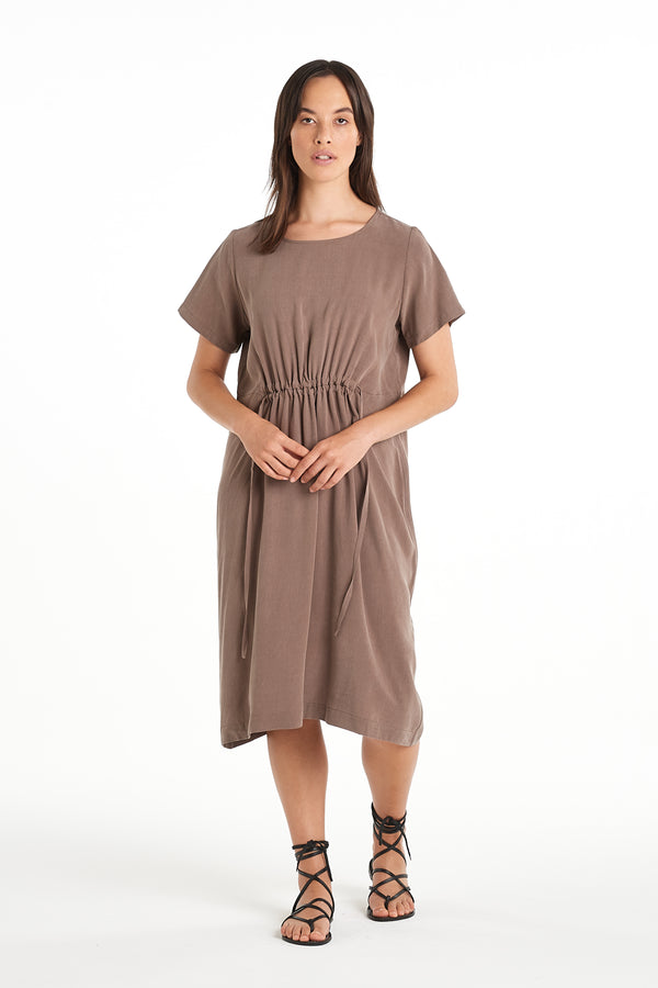 Divide Dress | Taupe | NYNE | Online Store