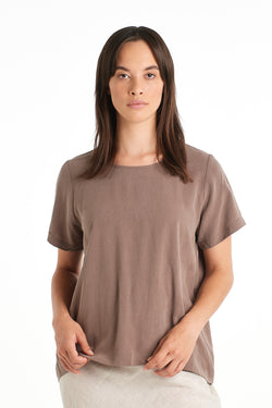 Print Top | Taupe | NYNE | Online Store