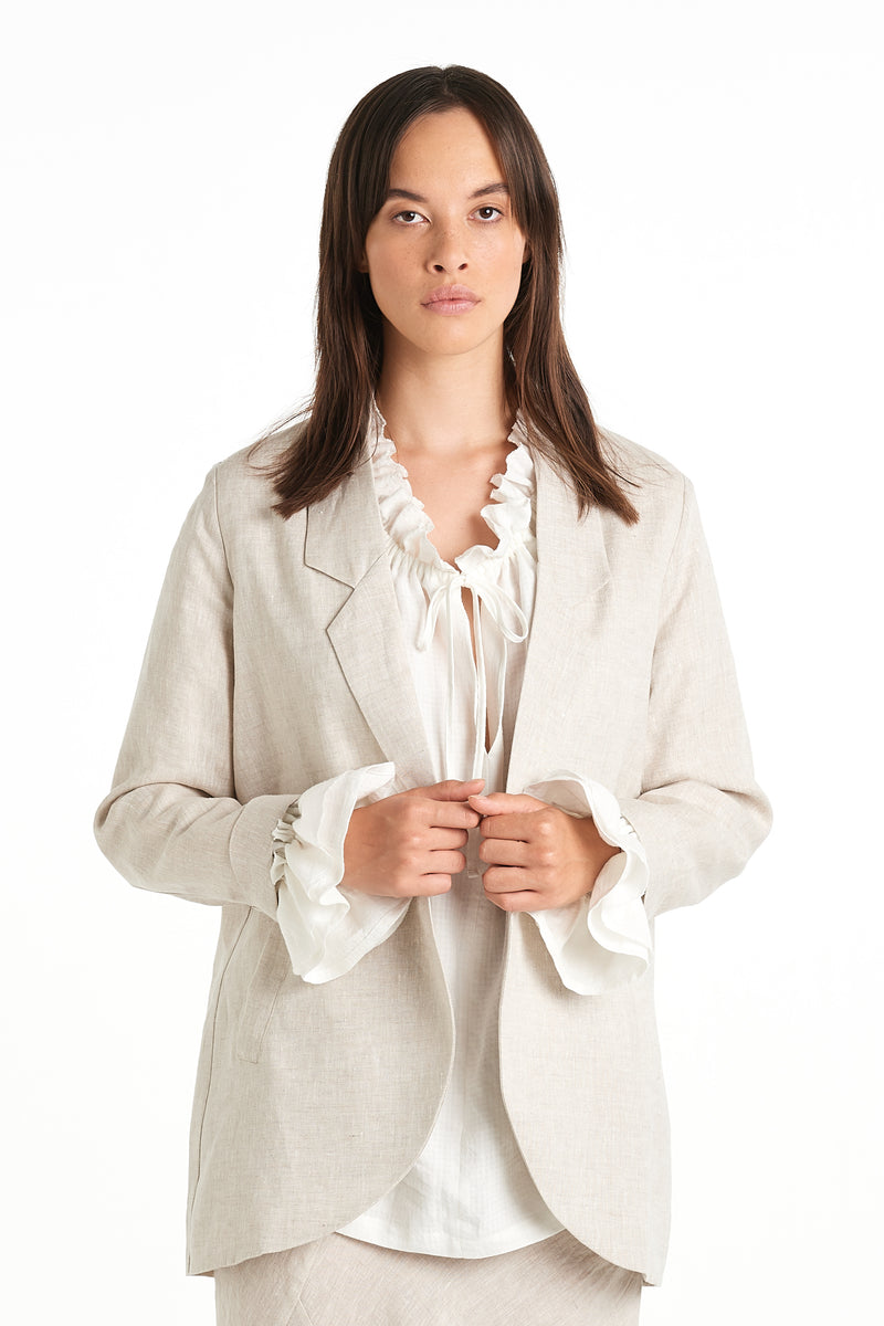 Press Blazer | Natural | NYNE | Online Store