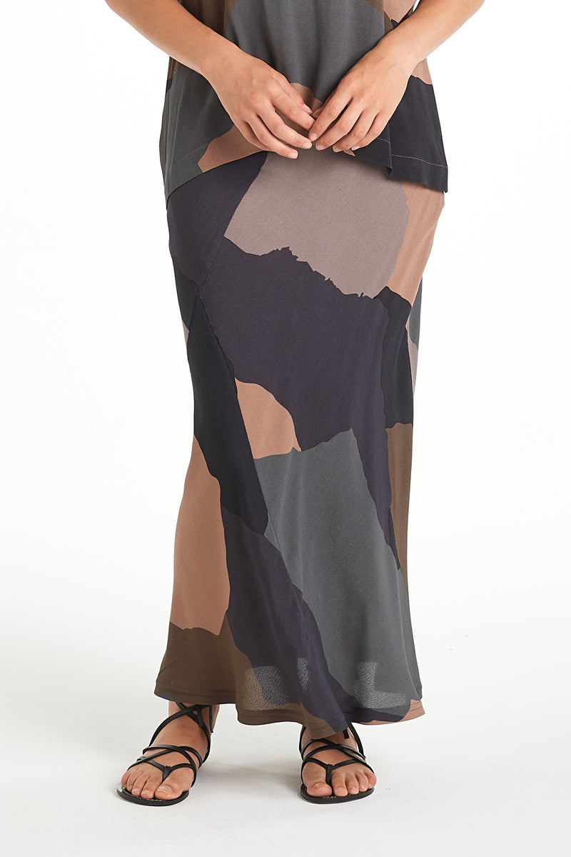 Sculpture Skirt | Shadowlands Dark | NYNE | Online Store