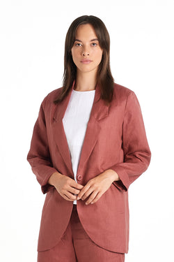 Press Blazer | Dusty Rose | NYNE | Online Store