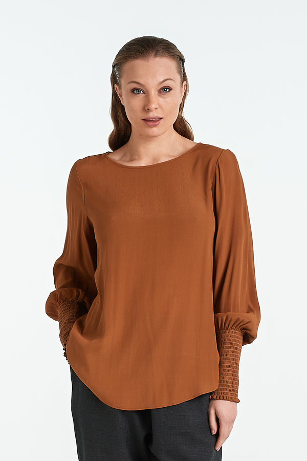 POLISHED TOP | TOFFEE - NYNE - NZ Made Women's Clothing