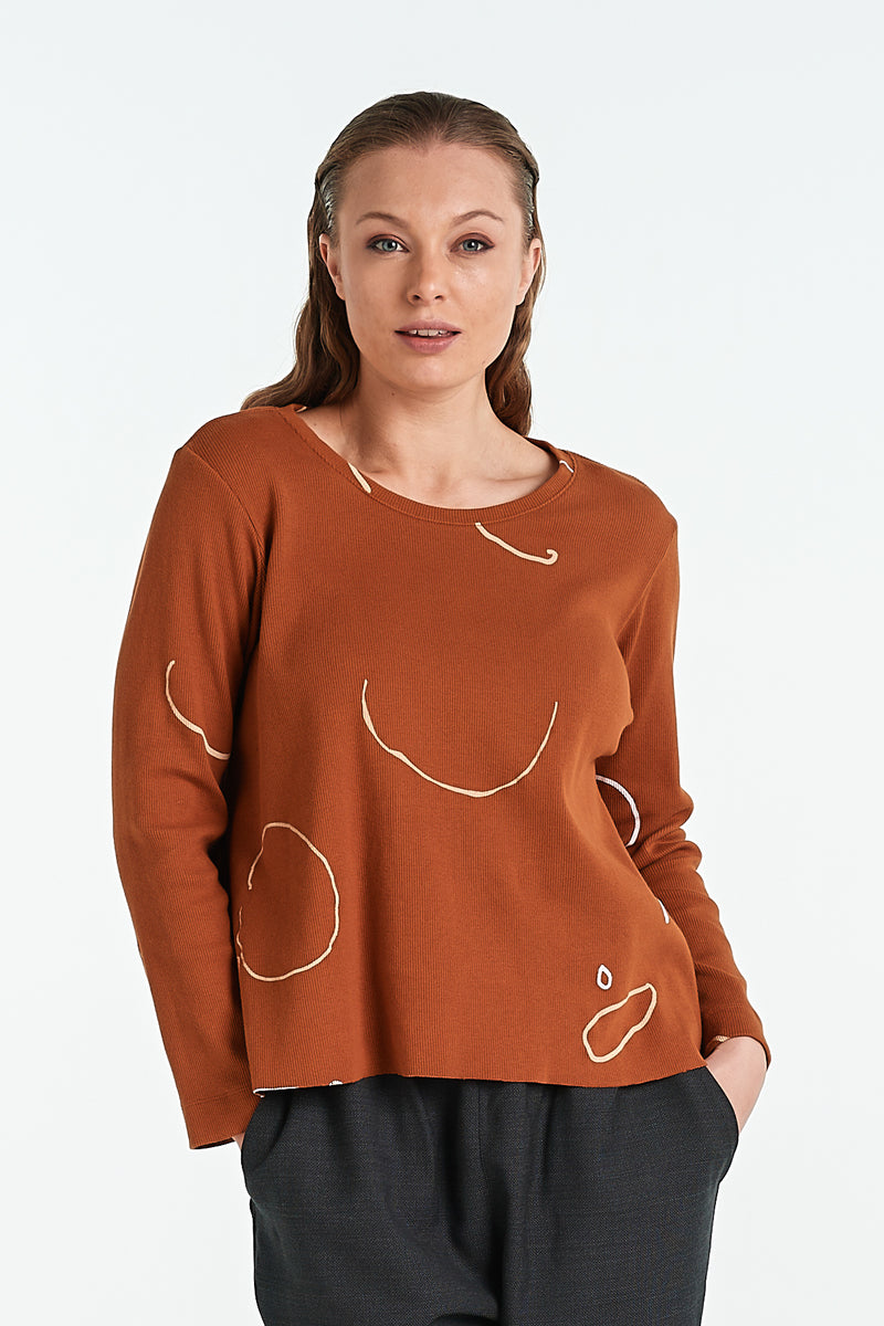 BIND LS TOP | TOBACCO OBJECT - NYNE - NZ Made Women's Clothing