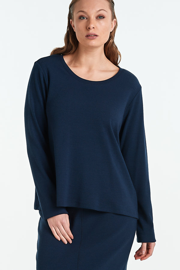 BIND LS TOP | INK MERINO - NYNE - NZ Made Women's Clothing
