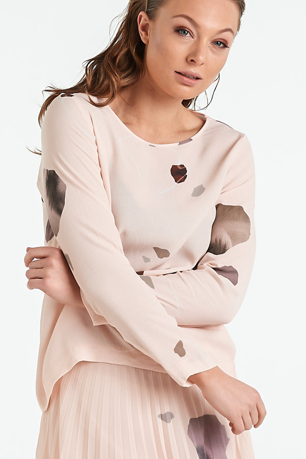 MARBLE TOP | BLUSH MINERAL - NYNE - NZ Made Women's Clothing
